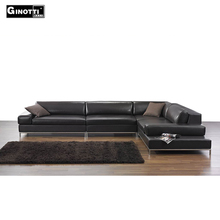 Custom made contemporary wholesale genuine leather corner sofa furniture from china