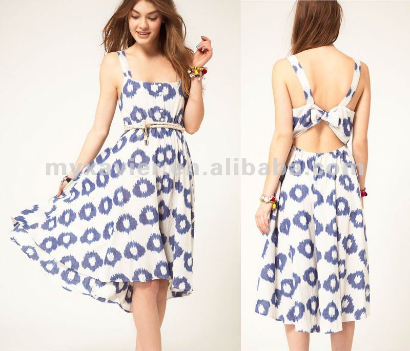 2012 Women Casual Dresses,Summer Midi Dress In Smudge Spot Print ...