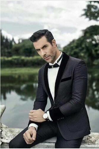 tuxedo jacket black grey stripe wool cosplay wedding formal prom steampunk prom