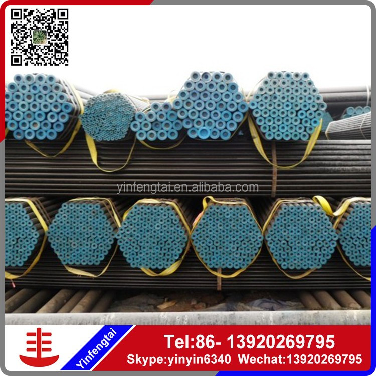 Black carbon steel tube welded pipe fence/ round pipe
