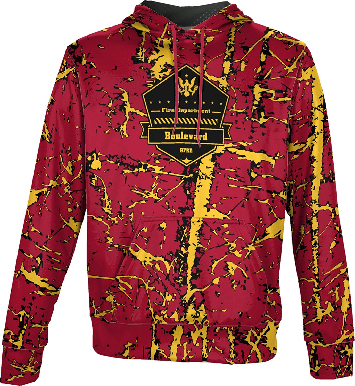 ProSphere Boys' Boulevard Fire and Rescue Department Fire Department Distressed Hoodie Sweatshirt