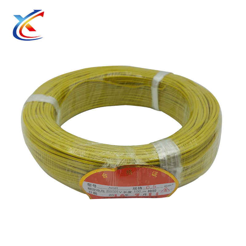 Security 500v soft silicone cable raw material made silicone wire