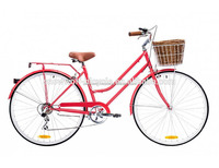 Retro Bicycle made in Europe classic vintage steel bike italian cycle urban city retro bike SW-CB-M0016