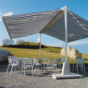 Stainless steel double side retractable free standing awning