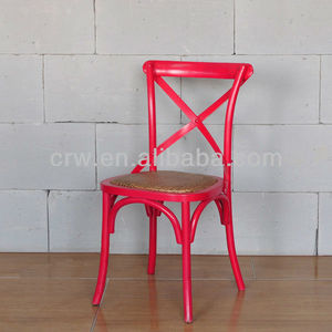 RCH-4001-17 Rattan Dining Chairs Red Cross Back Chair for Sale
