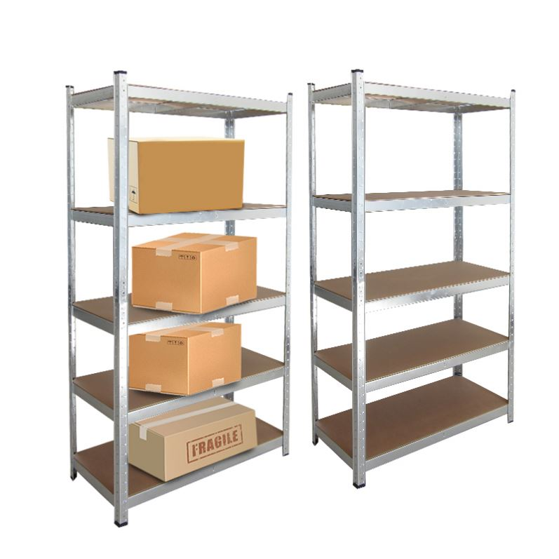 HEAVY DUTY 4 X 1.8M 5 TIER BOLTLESS METAL SHELVING SHELVES STORAGE UNIT SHELF