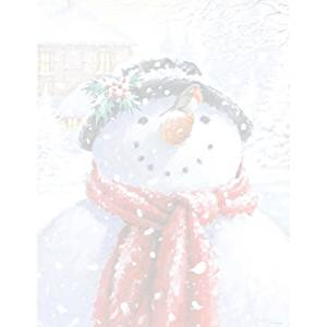 Cute Snowman Christmas Holiday Computer Printer Paper (150 Sheets)