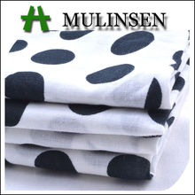 Mulinsen Textile High Quality Printed Woven Cotton Polka Dot Voile Fabric