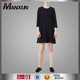 New design young ladies sexy black dress 3/4 sleeves fashion T shirt