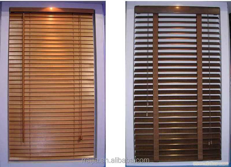 light transparent wooden slats venetian blinds