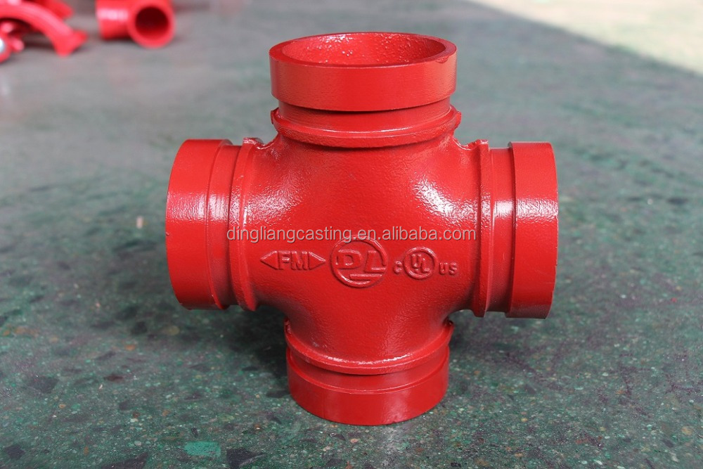 FM UL Grooved Pipe Fittings Tube Accessories Equal Cross