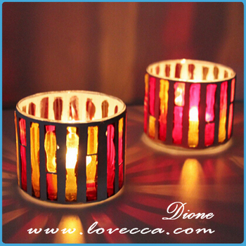 Glass Holder With Candles For Home Decor Wholesale Engraved Glass Candle Colorful Candle Jars