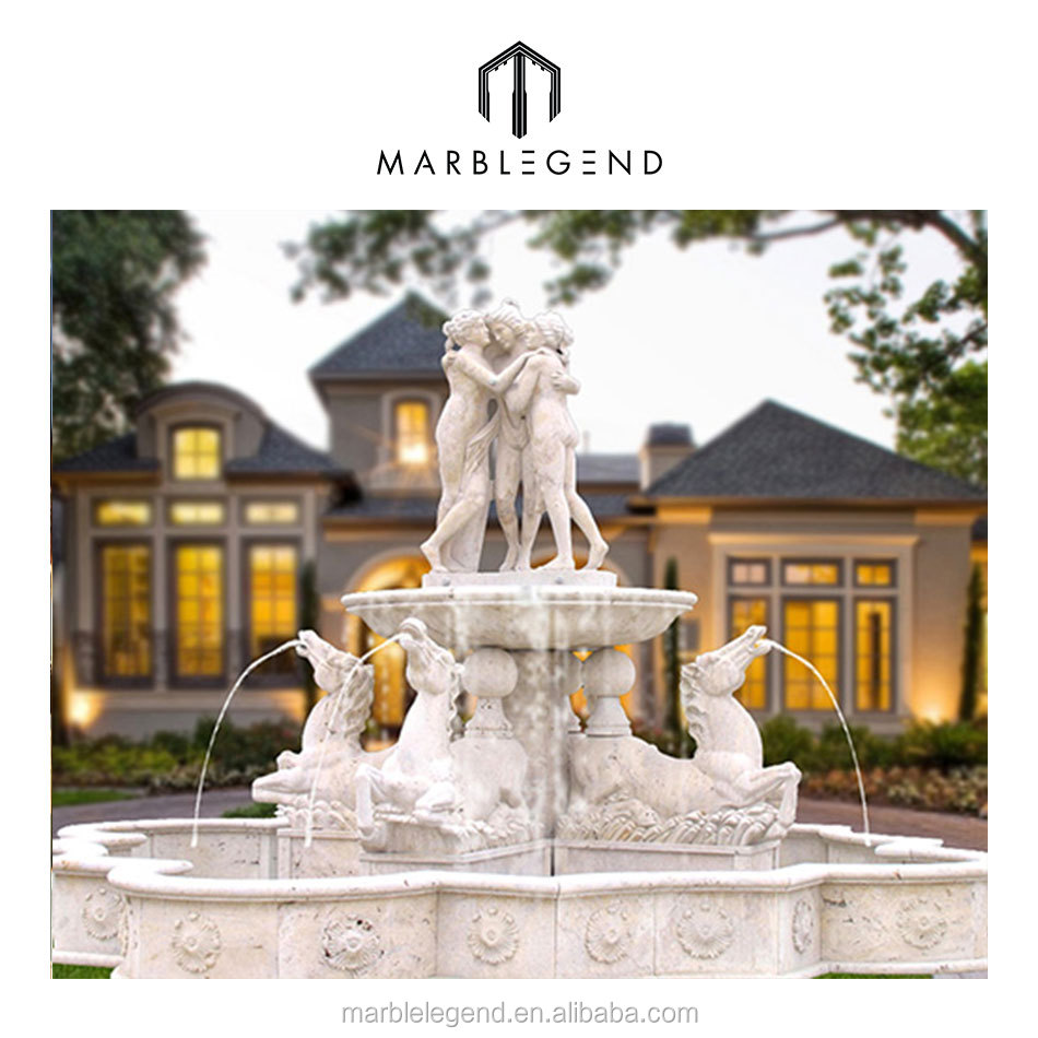 Female Statue Outdoor Water Fountain Ideas Antique Marble Statues