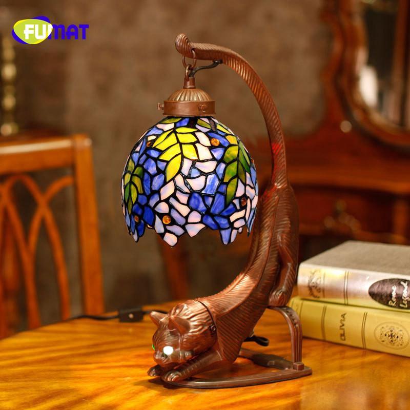 Lamparas Color Glass Led Table Lamp Hand Made Tiffany Desk: Compra Lotes Baratos De Estilo