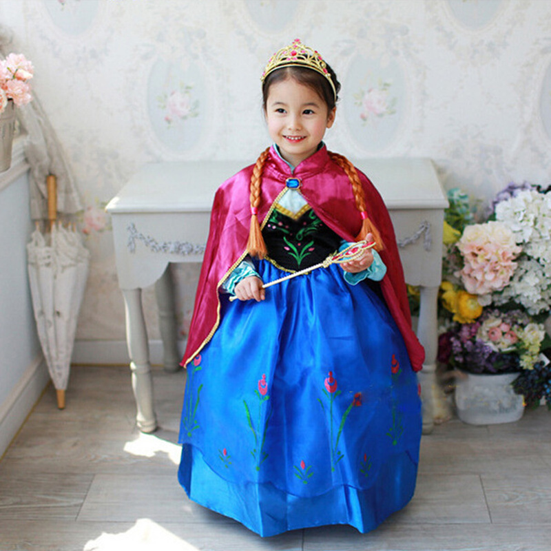Best Seller Cartoon Characters Princess Dress Kids Fancy Party Gown Costume for Girls