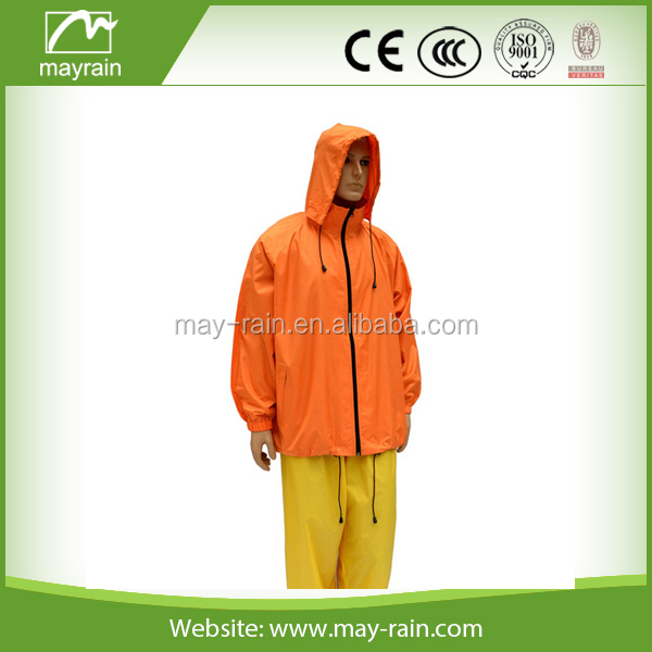 Adult waterproof rain jacket Nylon jacket