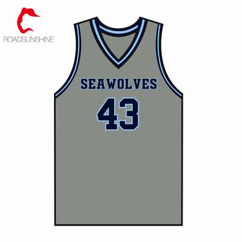 Custom Design Grey Basketball Jersey Basketball Team Uniform