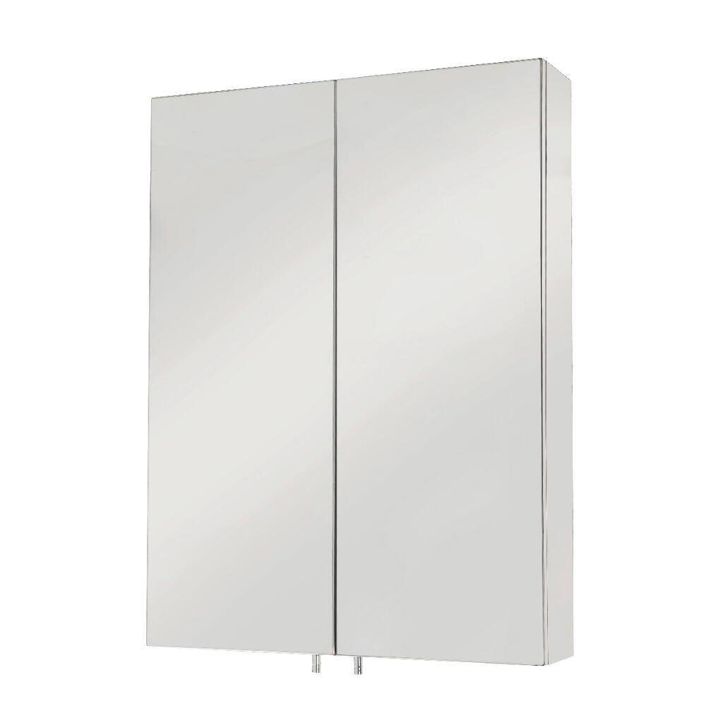 Croydex WC756105YW Anton Double Door Med Cabinet, Stainless