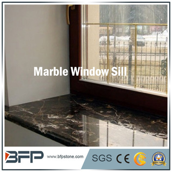 Highly Polished Black Marble Window Sill For Interior Design And Villa In Board