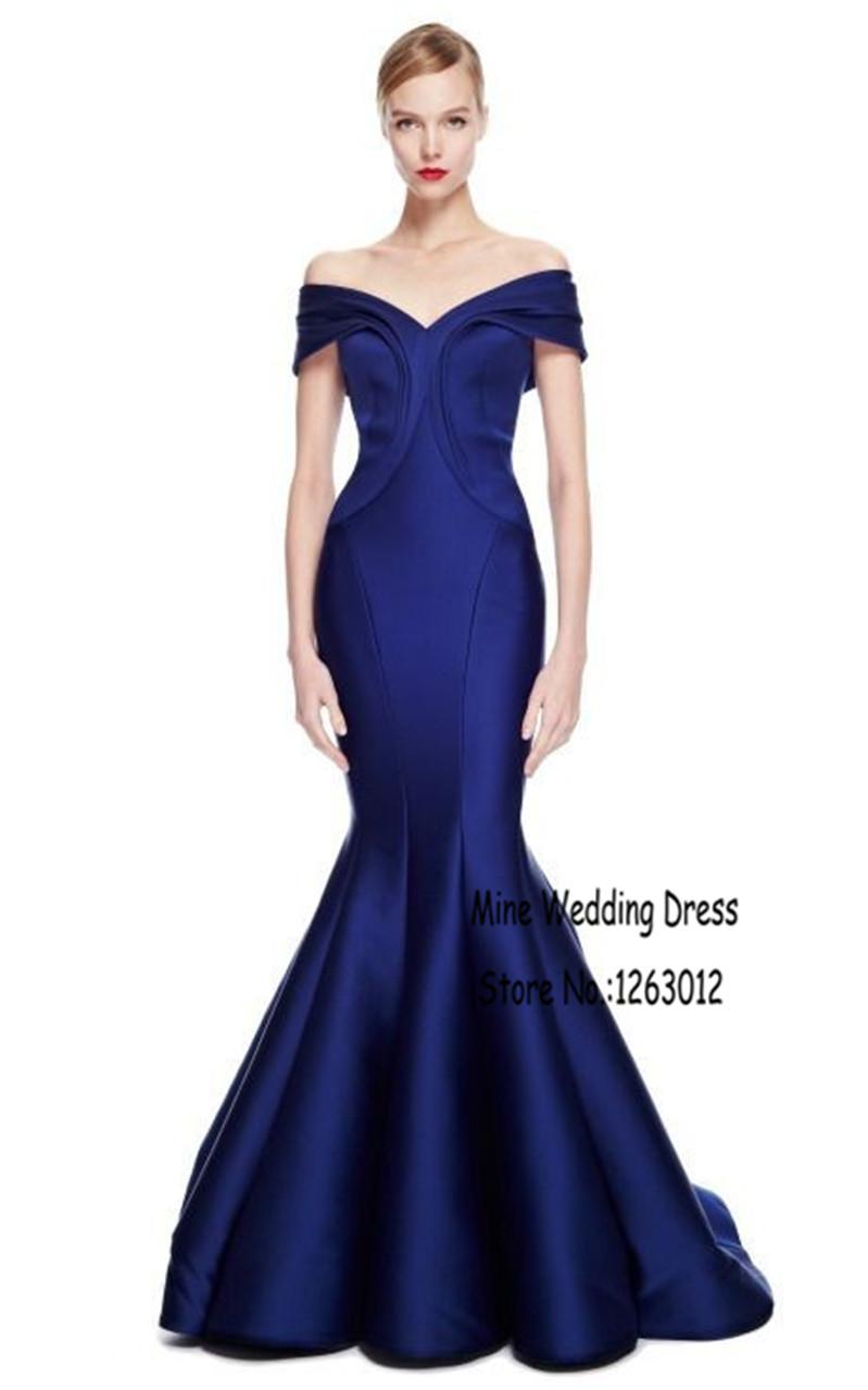 Get Quotations · V Neck Cap Sleeve Mermaid Floor Length Prom Dresses  Taffeta Vestido De Festa Simple Navy Blue 52b239e8251f