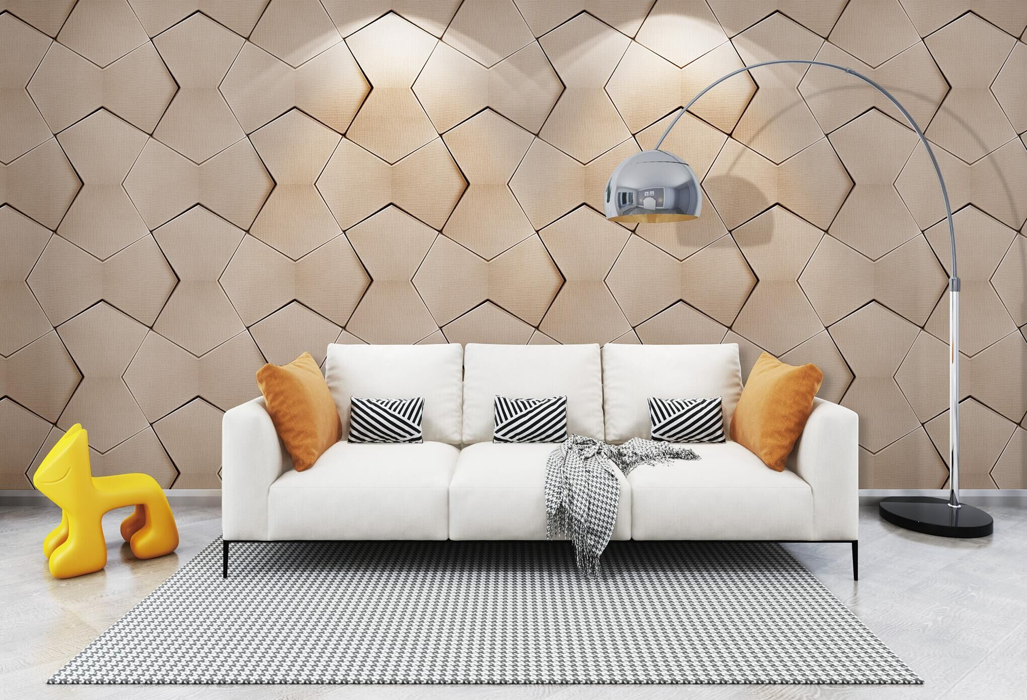 High quality waterproof 3d wall panels wallpaper for hotel decoration in Philippines