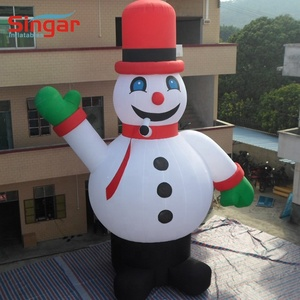 6 meter oxford fabric inflatable snowman,christmas airblown inflatables,inflatable xmas decorations