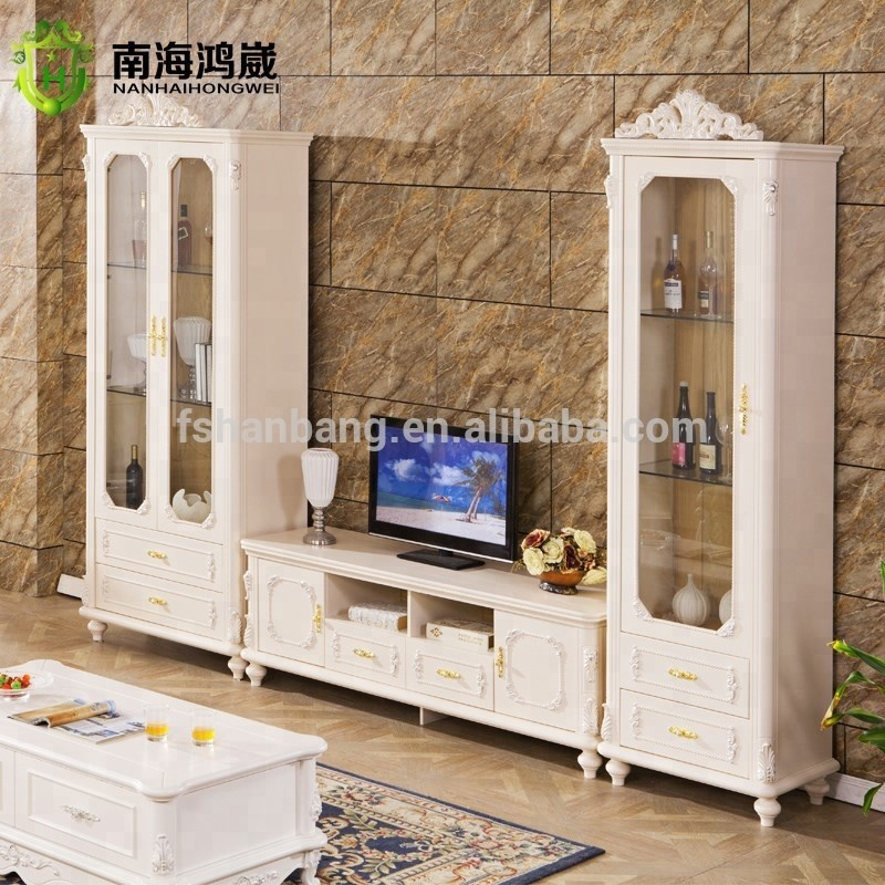 Classical Baroque Style Design One Two Doors Living Room Wood Tv Wine Glass  Display Cabinets - Buy Wine Glass Display Cabinet,Living Room Cabinet