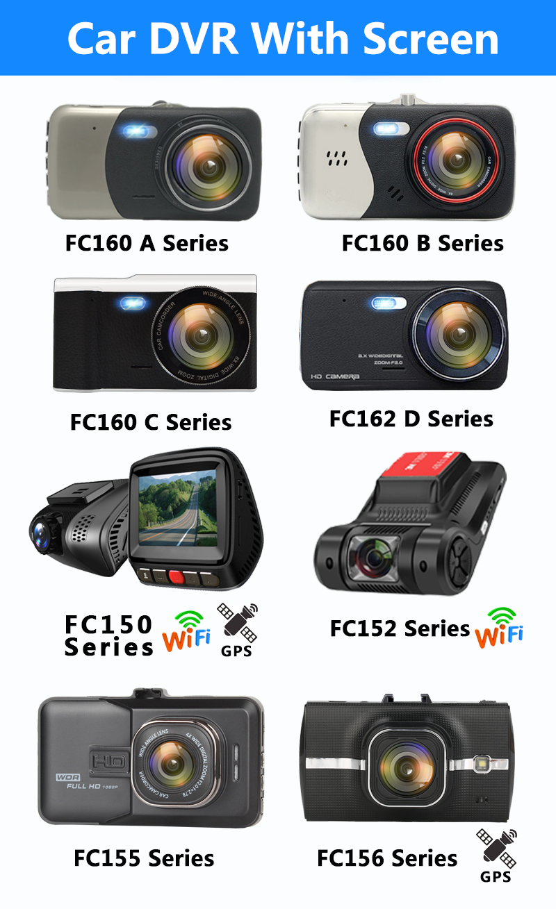 Factory Directly Full HD Dash Cam 1080p 3.0 Inch G-sensor GPS Positioning With Loop Recording