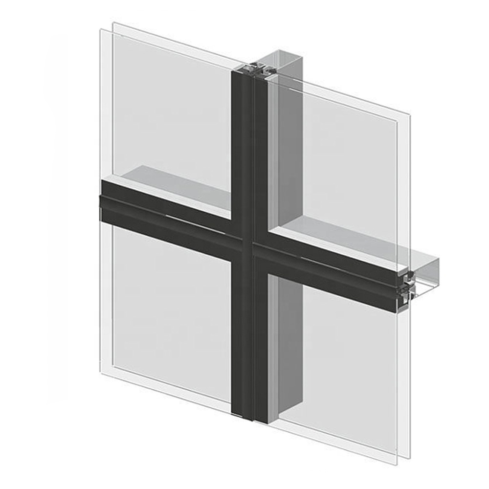 European Standard Unitized Aluminum Curtain wall System Wall Profile