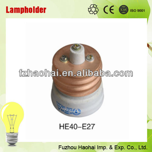 ceramic light bulb base double lamp holder E40 to E27