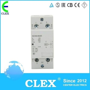 400V 2P single phase home ac 63a mini modular contactor