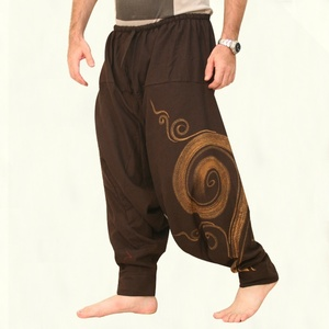 Plus Size Men Fashion Harem Pants Summer Baggy Aladdin Hippie Yoga Pants