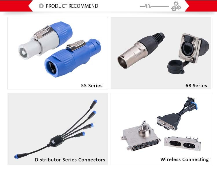 Bule de plástico 3 pinos 20A LEVOU tela high-current power plug conector xlr