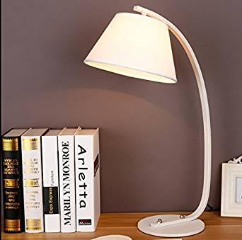 foldable desk lamp&Retro table lamp&Work lamp table lamp&LED desk lamp&Wood table lamps&Lamp shades for table lamps&Tripod table lamp Iron cloth cover table lamps , 1 white