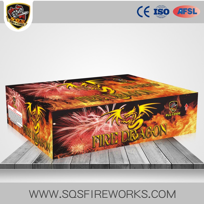 Quality Relief FIRE DRAGON Cake Fireworks for Sale