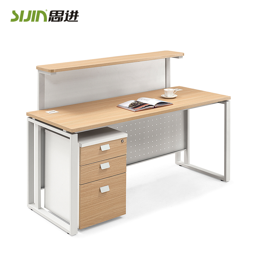Modern Melamine Office Reception Table Design And Front Office  # Image Table Tv En Melamine