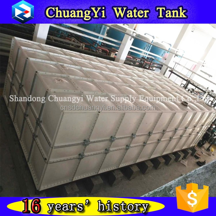 Hot sale in Malaysia grp smc panel water tank, sanitary 100m3 frp water tank, grp sectional panel type water tank
