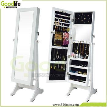 Goodlife Makeup Organizer Box With Floor Standing+wall Mount+hung Over The  Door Three