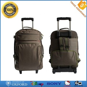 New design wholesale cheap strong laptop backpack bag with trolley