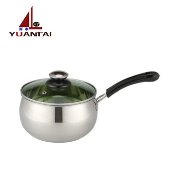 Factory products stainless steel soup pot stainless steel milk pot with single handle