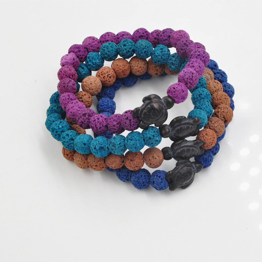 New arrival mens bead bracelets Colorful Lava stone Little Turtle bracelets Yoga Buddha Energy Bracelets free shipping фото