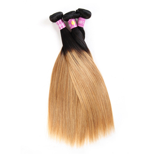1B/27 Blonde Ombre Brazilian kinky curly Human Hair Extension Weft
