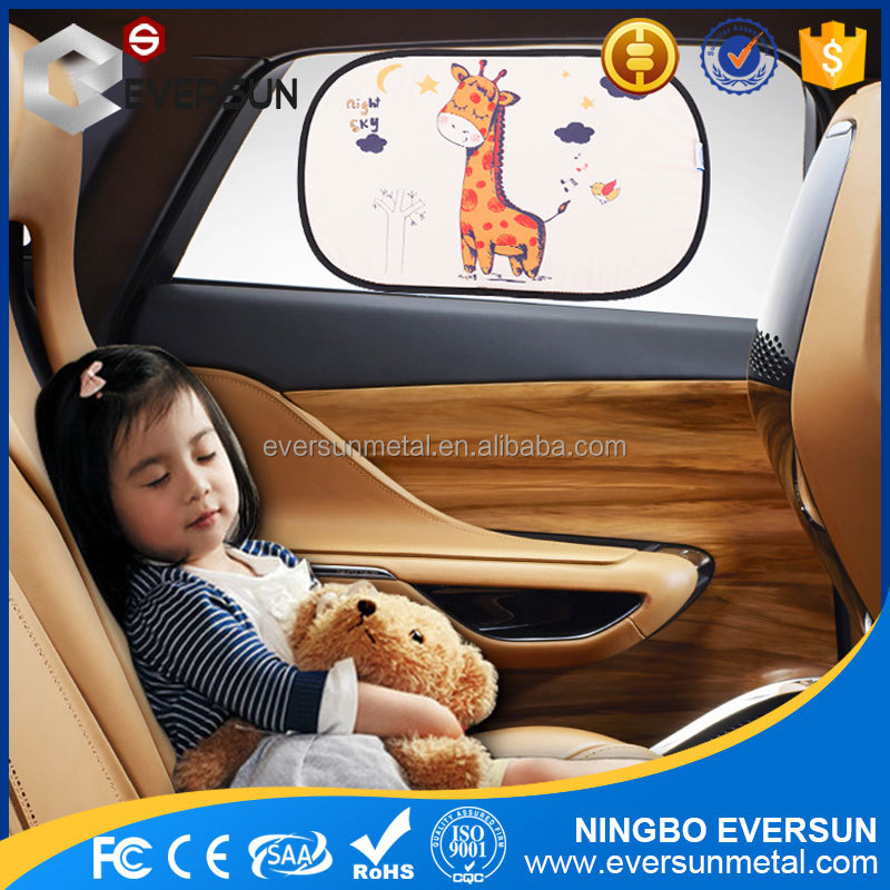 2017 luxury fashionable Printing Static Cling Car Window Sunshades