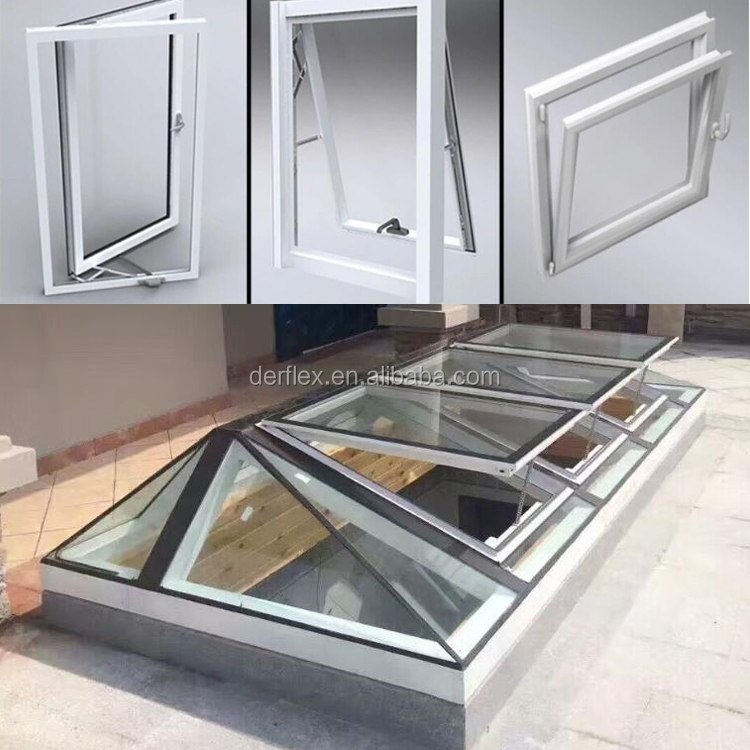 Cheap PVC casement swing double hungg glass windows with nets