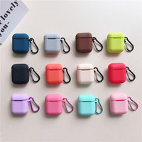 wholesale silicone case cover for airpods anti lost protective case for airpod charging case with Anti-drop