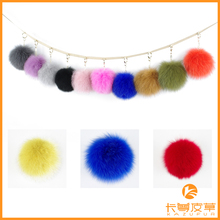 Handmade Top Quality14-16cm Fluffy Fur Wholesale Genuine Fox Fur Ball KZ151002