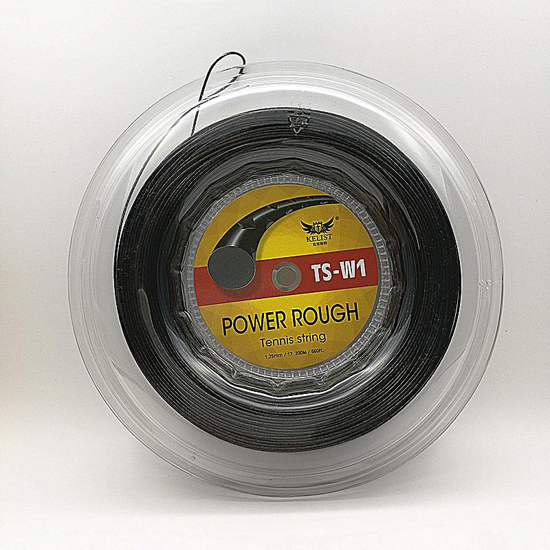 Factory OEM Cheap Wholesale Branded 125 1.25MM 200M Reel Polyester Alu Power Rough OEM Tennis String, Black