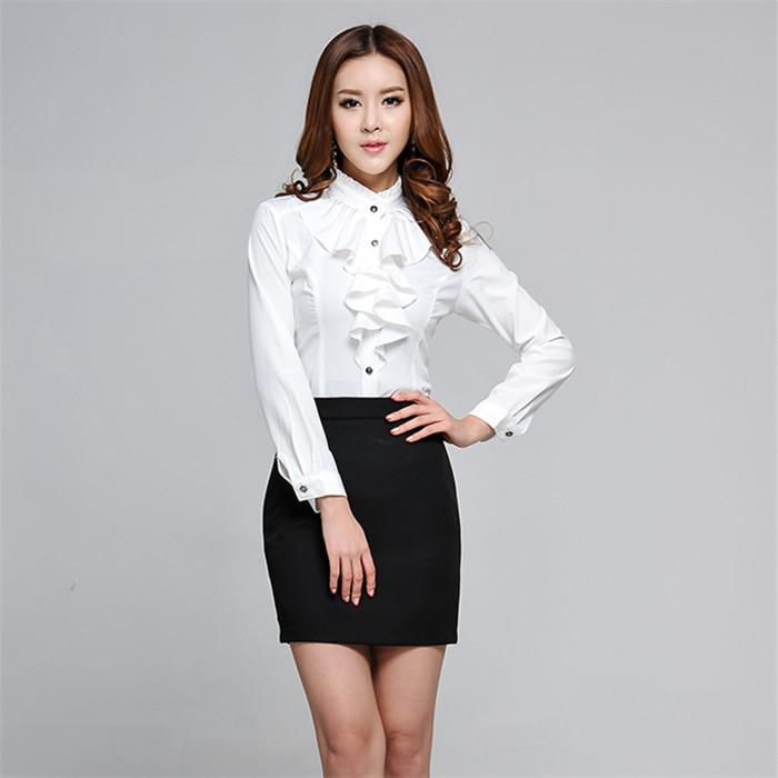 2e374ff11c White Blouse And Black Skirt - Peach Chevron Blouse