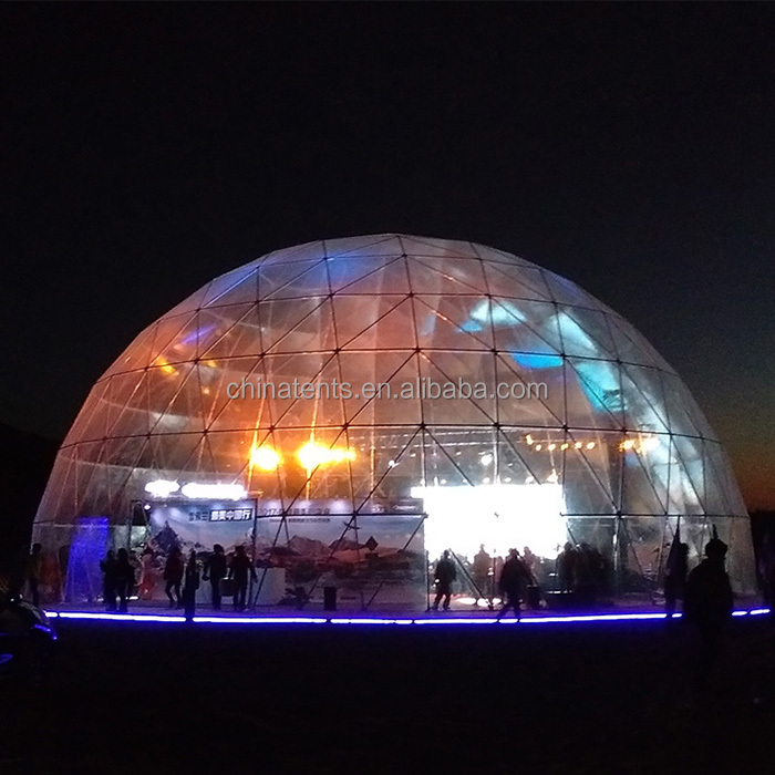 25m large metal frame structure clear span geodesic dome marquee tents tent for sale