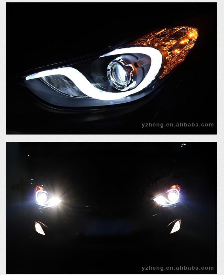 vland car accessories 2012 elantra headlight automotive. Black Bedroom Furniture Sets. Home Design Ideas
